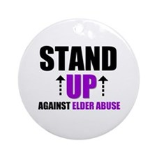 Elder Abuse Stand Up Ornament (Round)
