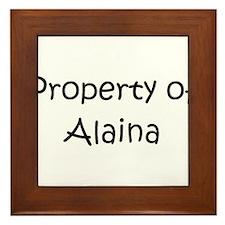 Funny Alaina Framed Tile