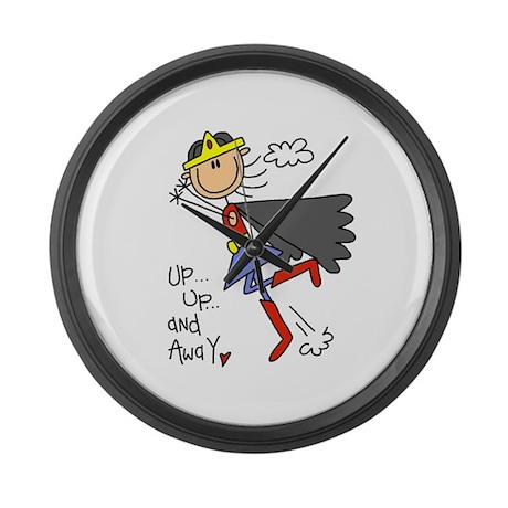 Up and Away Girl Hero Large Wall Clock