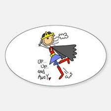 Up and Away Girl Hero Oval Decal