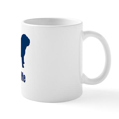 Bite Me Bulldog Blue Mug