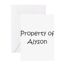 Unique Alyson Greeting Card
