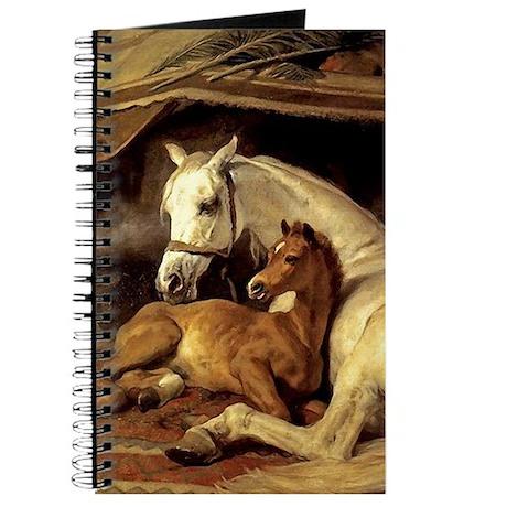 Arabian mare & foal. Horse Journal