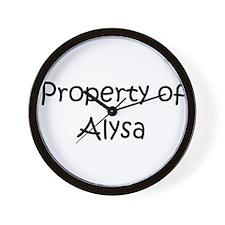 Cute Alysa Wall Clock
