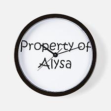 Unique Alysa Wall Clock