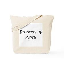 Funny Alysa Tote Bag