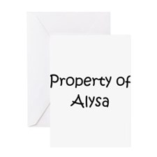 Unique Alysa Greeting Card