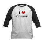 I Love Wine Making Kids Baseball Jersey