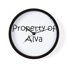 Cool Alva Wall Clock