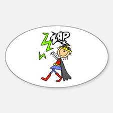 ZAP Girl Hero Oval Decal