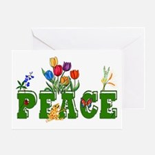 Peace Garden Greeting Card