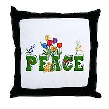 Peace Garden Throw Pillow