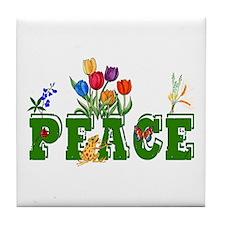 Peace Garden Tile Coaster