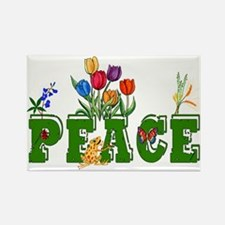 Peace Garden Rectangle Magnet
