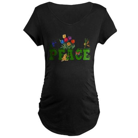 Peace Garden Maternity Dark T-Shirt