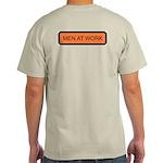 Men at Work (Back) Ash Grey T-Shirt