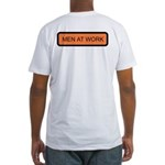 Men at Work (Back) Fitted T-Shirt