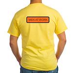 Men at Work (Back) Yellow T-Shirt
