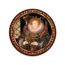 """Queen / Dachshund #1 3.5"""" Button (100 pack)"""