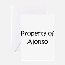 Unique Alonso Greeting Card
