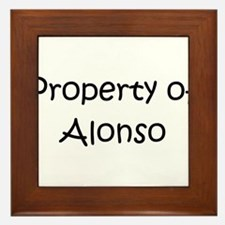 Funny Alonso Framed Tile