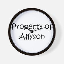 Cute Allyson Wall Clock