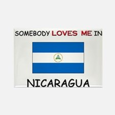 Somebody Loves Me In NICARAGUA Rectangle Magnet