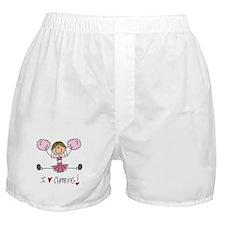 Pink Love Cheering Boxer Shorts