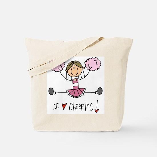 Pink Love Cheering Tote Bag