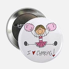 "Pink Love Cheering 2.25"" Button"