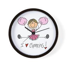Pink Love Cheering Wall Clock