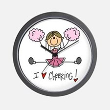 Pink Love Cheering Wall Clock