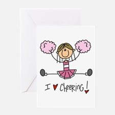 Pink Love Cheering Greeting Card
