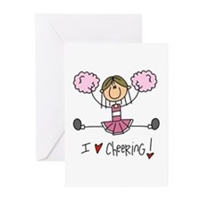 Pink Love Cheering Greeting Cards (Pk of 10)