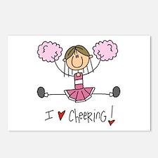 Pink Love Cheering Postcards (Package of 8)