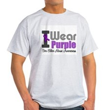 I Wear Purple (Elder Abuse) T-Shirt
