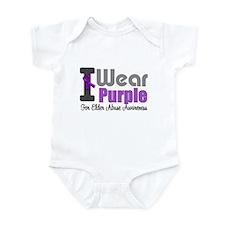 I Wear Purple (Elder Abuse) Infant Bodysuit