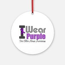 I Wear Purple (Elder Abuse) Ornament (Round)