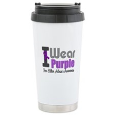 I Wear Purple (Elder Abuse) Travel Mug