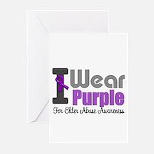 I Wear Purple (Elder Abuse) Greeting Cards (Pk of