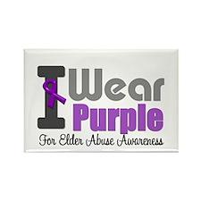 I Wear Purple (Elder Abuse) Rectangle Magnet