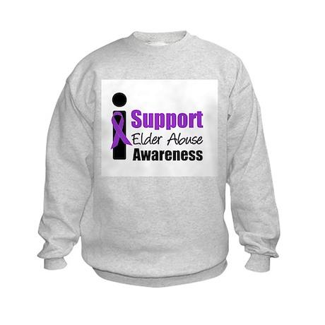 Elder Abuse Support Kids Sweatshirt