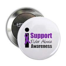 """Elder Abuse Support 2.25"""" Button"""