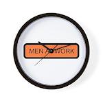 Men at Work Sign 1 - Wall Clock