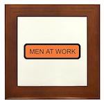 Men at Work Sign 1 - Framed Tile