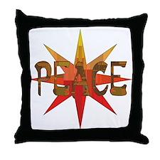 Peace Flowering Throw Pillow