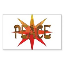 Peace Flowering Rectangle Decal