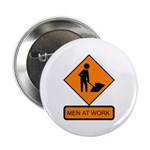 "Men at Work Sign 2 - 2.25"" Button (10 pack)"