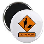 "Men at Work Sign 2 - 2.25"" Magnet (10 pack)"