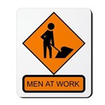 Men at Work Sign 2 - Mousepad